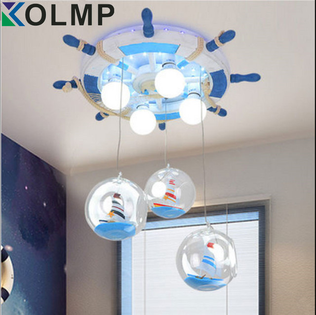 Corsair Kids Bedroom Ceiling Light Steering Wheel Creative Baby Boy Room Lamp Led Eye Protection Luminaria Teto 220 240v