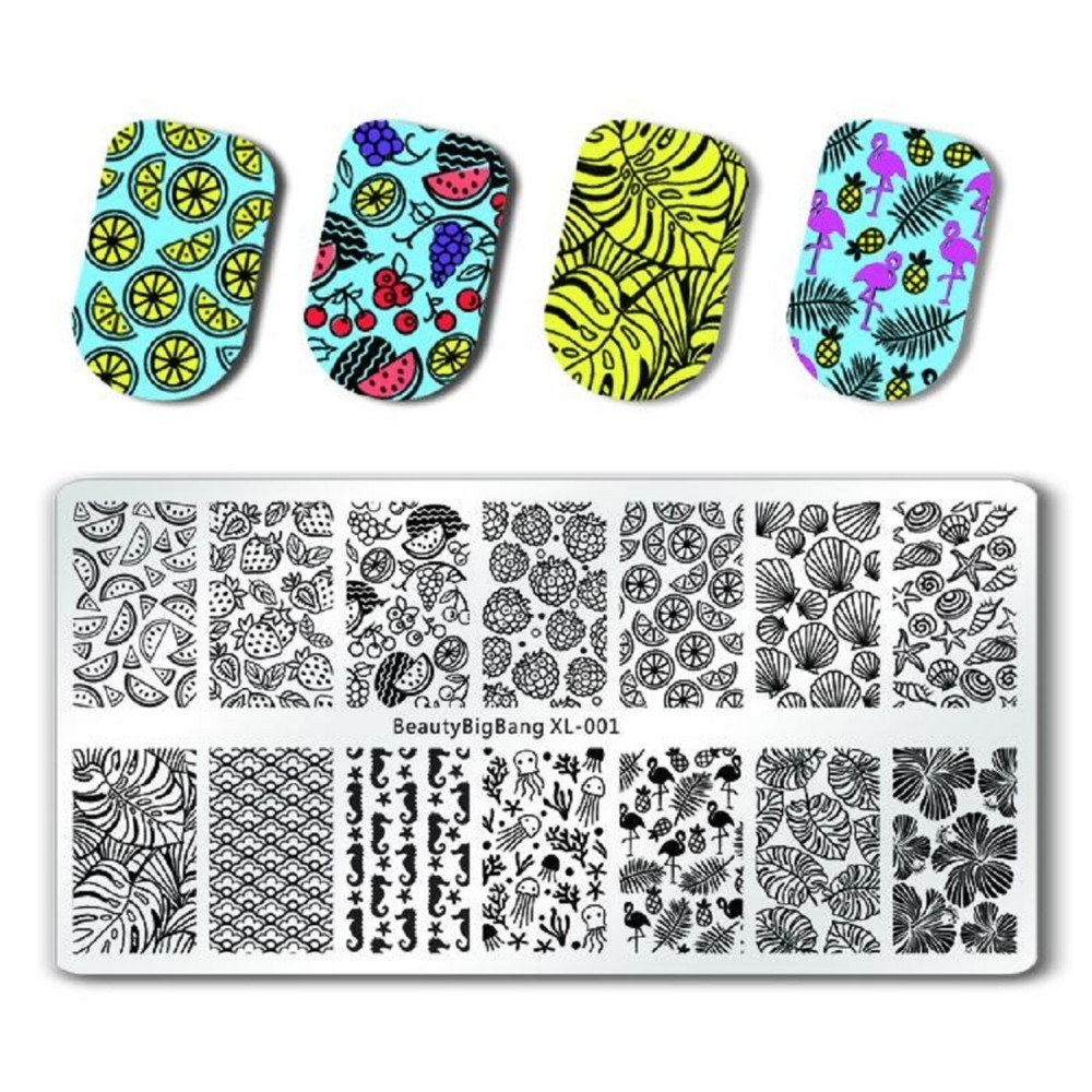 Beauty & Health Nail Art Templates Enthusiastic 1pcs Beautybigbang Starfish Shell Waterlemon Jellyfish Leaves Nail Plates Stamp Stencil For Stamping 3d Mold Geometry Print And To Have A Long Life.