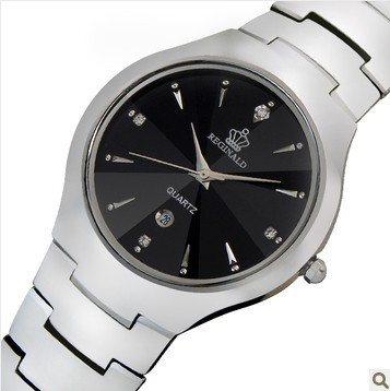 Luxury HK Brand Man Lady Lovers Quartz Wristwatches Crystal Waterproof Tungsten Steel Calendar Date Week Men Business Watches