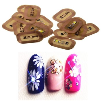 10Pcs DIY Mobile Sensors LED Light Flash Affixed Scintillation Nail Art Sticker Decor polish Chip Manicure Decorations Phone Tip