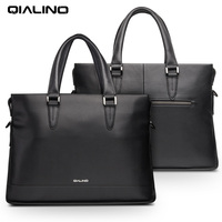 QIALINO Genuine Leather Laptop Bag Case For 11 13 14 Inch Case For Macbook Air Pro