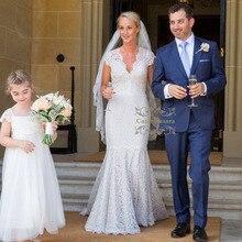 Caterinasara Princess Wedding Dresses Neckline Cap Sleeves