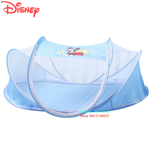 Disney Hot Selling Mickey Baby Bed Blue Mosquito Set Net Mesh Dome Curtain Net for Toddler Crib Cot Canopy Dropshipping DSYD0015