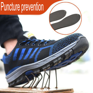 Image 5 - Men Safety  Work BootsShoes  Construction Outdoor Steel Shoes Summer Breathable Anti Piercing Mite High Quality
