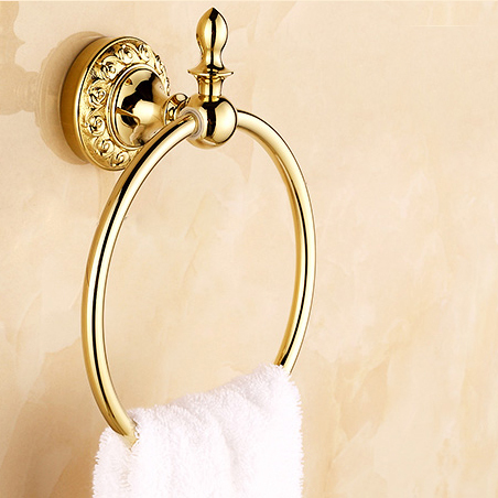 ФОТО Retail - Luxury Brass Towel Ring, Gold Color Bathroom Towel Ring, Free Shipping L15952