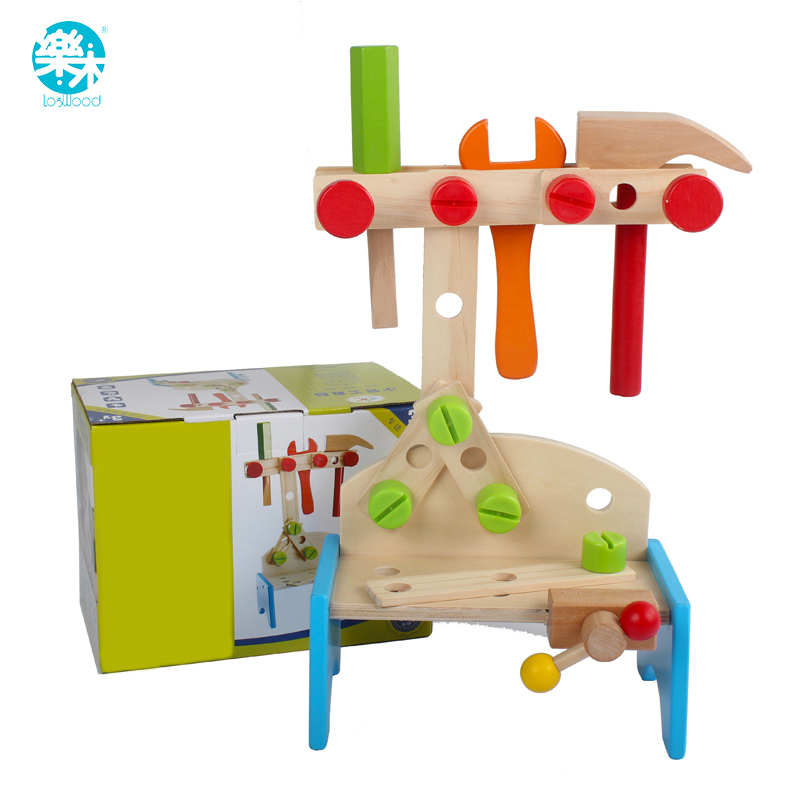 Wooden Baby Toys Kids Multifunctional mini Tool Maintenance Box Wooden Toy Baby Nut Combination Chirstmas Birthday