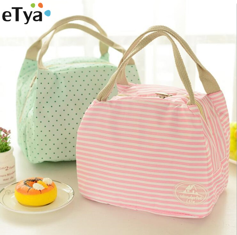 eTya Portable Insulated Lunch Bag Thermal for Women kids Snack Lunch Box Carry Tote Storage Bag Travel Cooler Picnic Food Pouch  shoulder lunch bag tote women kids thermal insulated cooler storage picnic food drink bento box accessory supply products stuff
