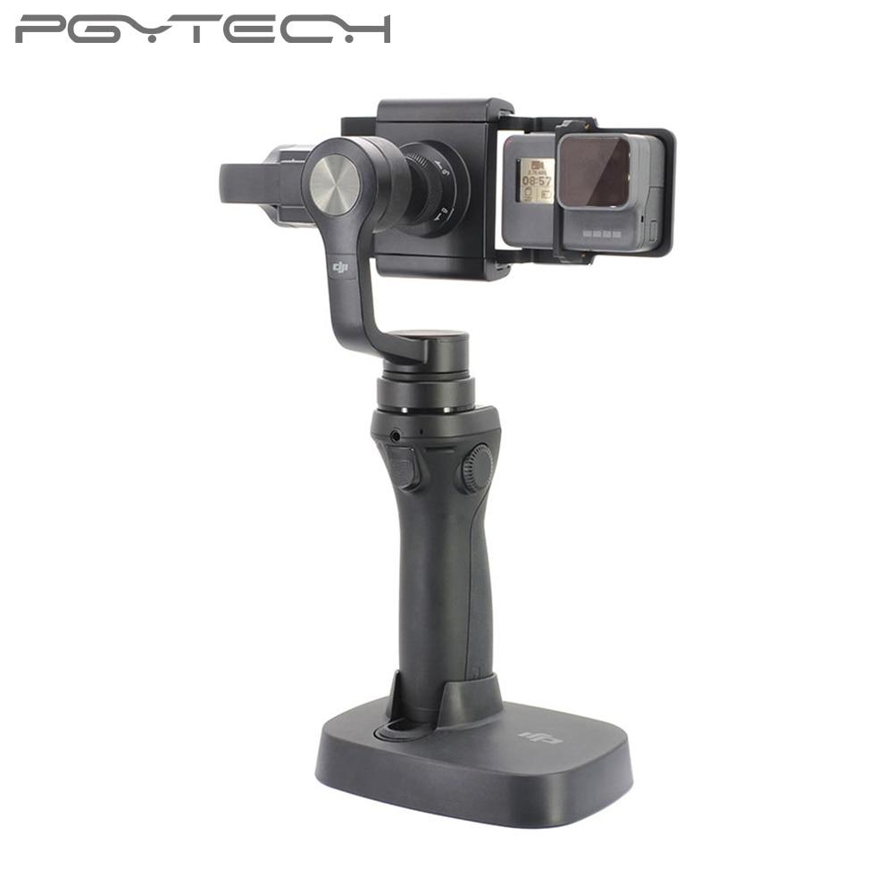 PGYTECH Adaptateur pour osmo mobile zhiyun Gopro Hero 6 5 4 3 + xiaoyi  lisse Q accessoire commutateur montage plaque Caméra drone pièces dans  Sports