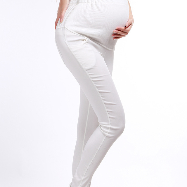 5650679b546c4 Spring autumn maternity pant large size black white slim pregnant pants  skinny leggings mother casual trousers capris