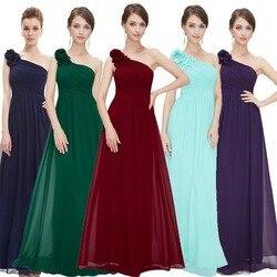 Вечерние платья на одно плечо Ever Pretty, длинные праздничные платья с цветами, в стиле знаменитости, для выпускного вечера, разных цветов, EP08237, ...