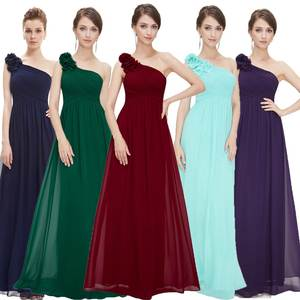 Evening-Dresses Ever Pretty EP08237 Floral Long One-Shoulder Fashion-Style Holiday Celebrity