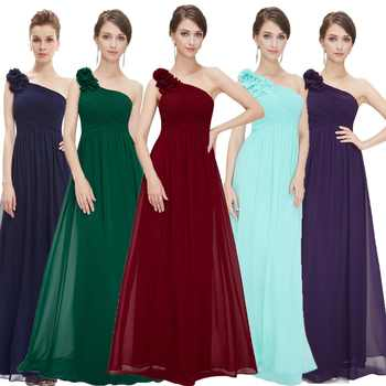 Evening Dresses Long Ever Pretty EP08237 One Shoulder Floral Holiday Celebrity Prom Fashion Style Evening Dresses Long - DISCOUNT ITEM  40% OFF All Category