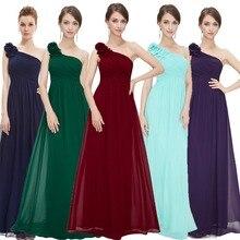 Robes de soirée longue jamais jolie EP08237 une épaule florale vacances célébrité bal mode Style robes de soirée longue