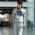 Men's Fashion Hoodies Sweatshirts, Male outside Casual fitness Hooded coat male Fitness sweatshirt suit tops and pants plus size