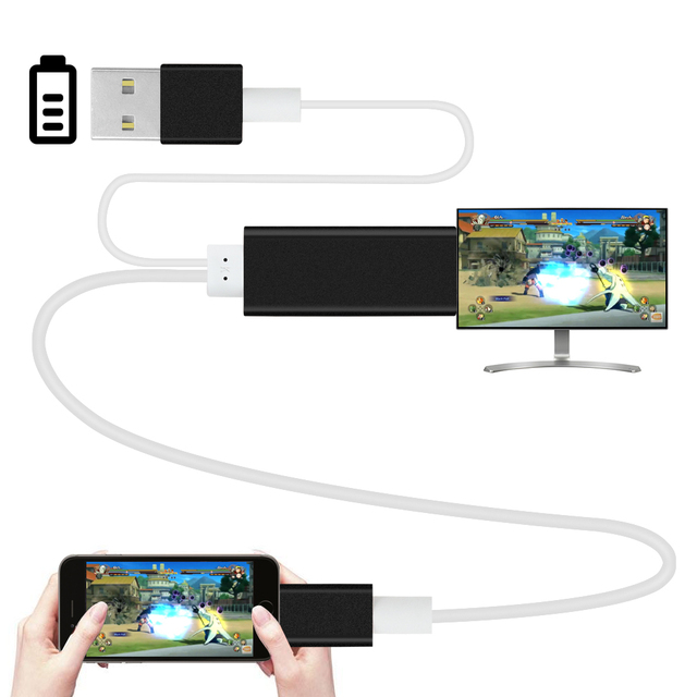 HDMI cable for Lightning to HDTV TV HD1080P HDMI cable Adapter for ...
