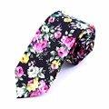 2016 nuevo hombre corbata impresa flor de algodón tie wedding party negocios corbata para los hombres