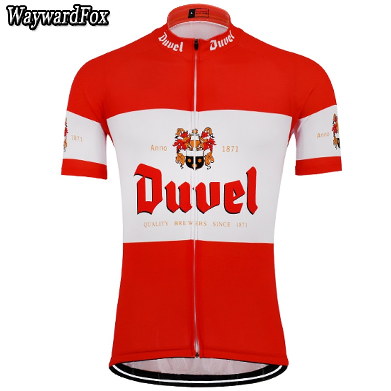 c781ac7be 2018 NEW Summer men s red white beer cycling Jersey Cycling Clothing team  MTB   road
