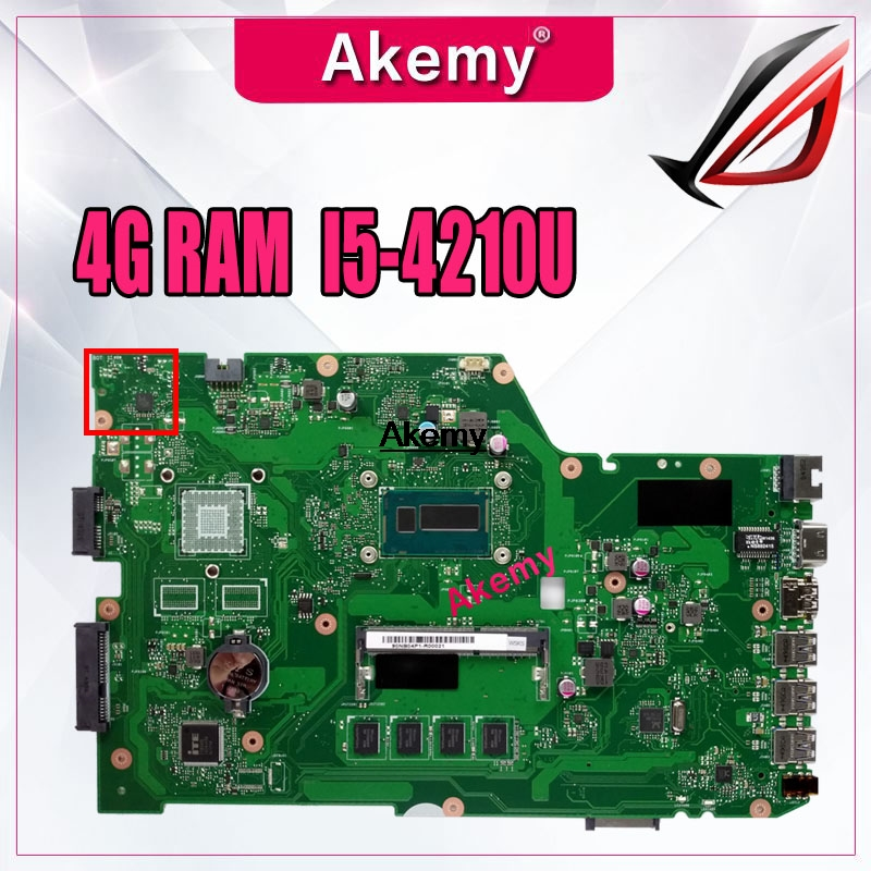 Akemy Laptop Mainboard Teste X751LAB ASUS I5-4210U 4G Para Original