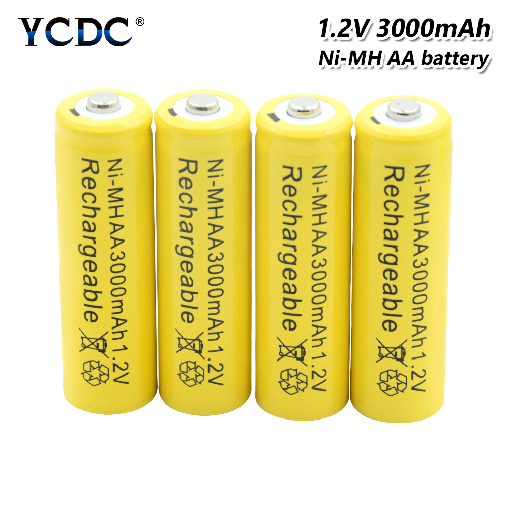Rechargeable Batteries High Performance Ni-mh Aa Battery 1.2v 3000mah Rechargeable Li-ion Cell 20pcs For Laser Pen Led Flash Light Cell Battery Holder Power Source