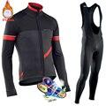 2019 Pro Team NW Winter Thermische Fleece Radfahren Kleidung Männer Northwave Jersey Anzug Outdoor Reiten Bike MTB Kleidung Bib Hosen set