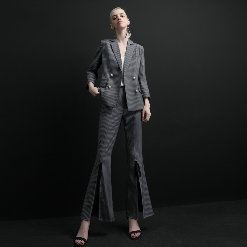 High Quality Women Suits Pants Suit  Women's Office Lady Two Pieces Sets Female Autumn New Casual Jacket Trousers Elegant