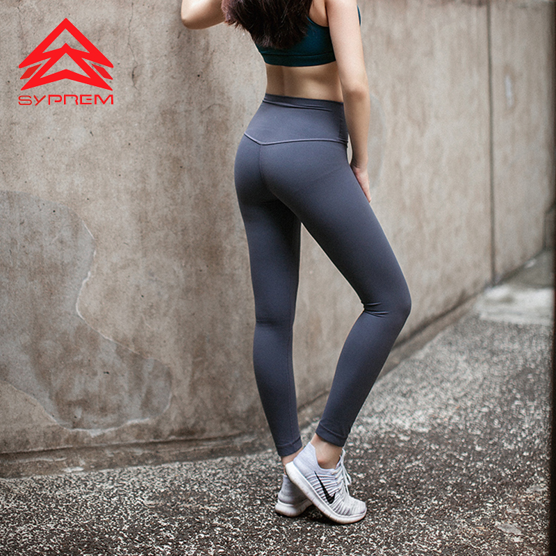 Syprem Tight Nine Sports Pants For Female Solid Quick Dry Fitness Leggings Pilates Sportswear High Waist Winter Gym Tights,0007