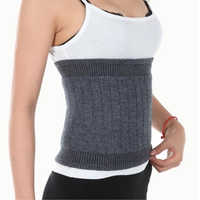 Women Men Cashmere Fitness Waist Belt Warmer Wool Waist Gym Support Belt Bodybuilding Elastic Protector Lumbar Support HBK036