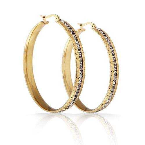 Super Big Circles Hoop Earrings Twisted Stainless Steel Gold color Thread Hoop earrings Girl Earrings gold triangle hoop earrings