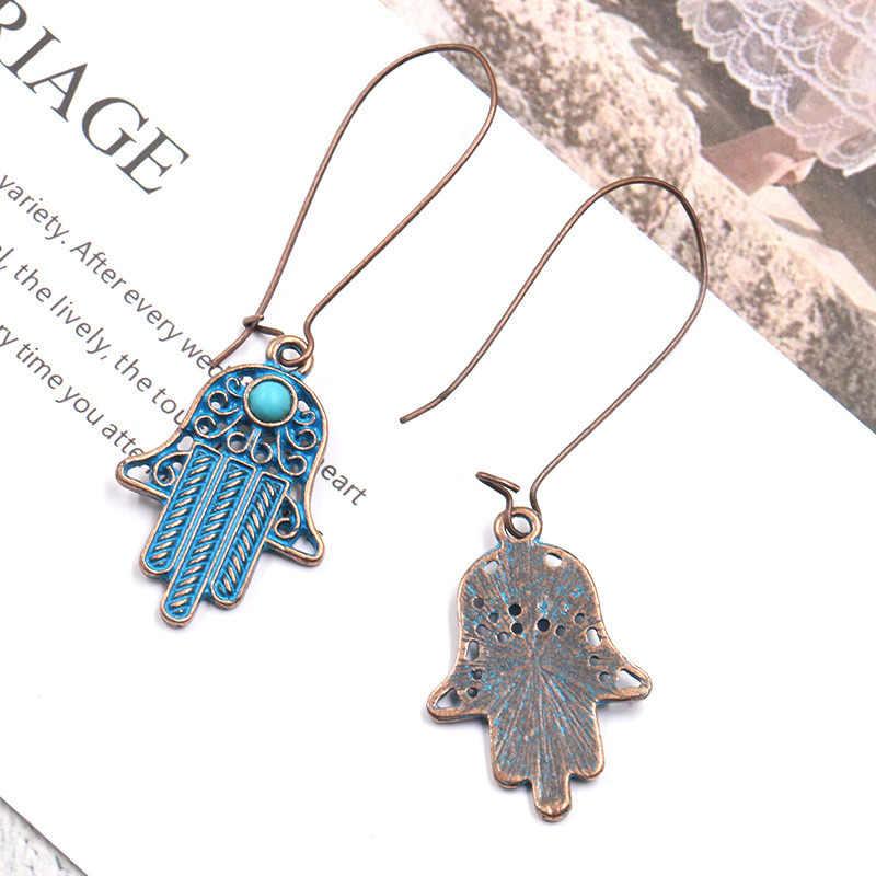 SUKI 2019 nouveau chanceux turquie hamsa mauvais œil boucles d'oreilles personnalité exagérée yeux charme Vintage bijoux pour femmes ami cadeau