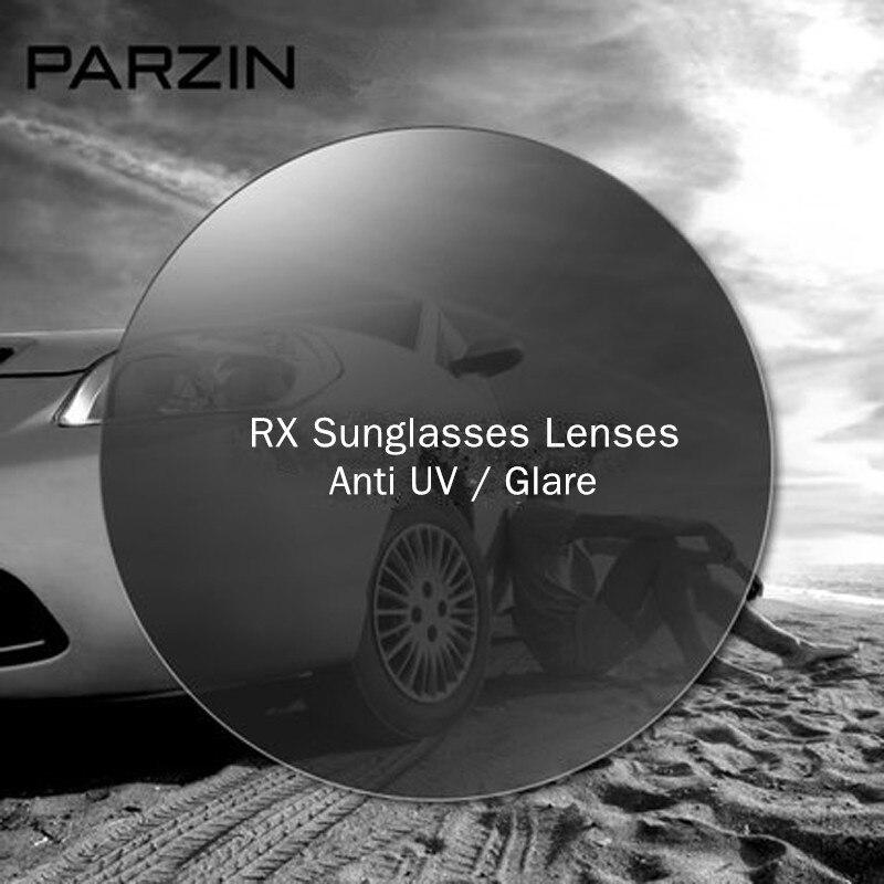 PARZIN 1.56/1.61/1.67 lentilles de lunettes myopie RX lunettes de soleil Anti-UV lentille optique Prescription lunettes de soleil-4.00 --- 6.50