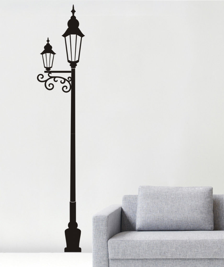 Us 33 47 7 Off Free Shiping Lamp Post Wall Art Sticker Vinyl Decal Room Home Decor Wall Sticker In Wall Stickers From Home Garden On Aliexpress