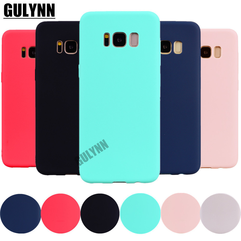 Case For Candy-Color Samsung Galaxy Silicon J4 J6 J8 TPU A6 S8 A5 J5 S9 Soft A3 A7 J7