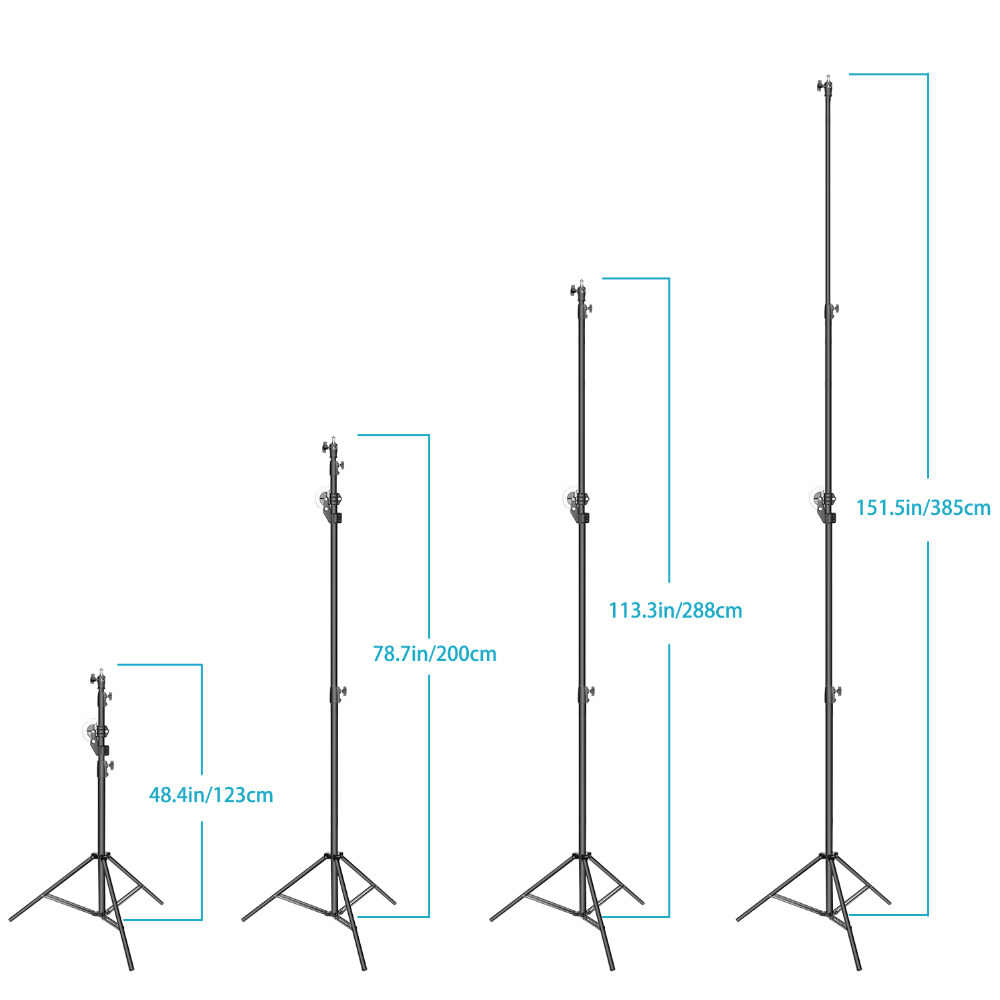 hight resolution of  neewer photo studio 2 in 1 light stand 48 4 151 5 inches adjustable height