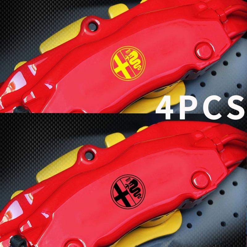 Automobiles & Motorcycles Automobile,4pcs For Alfa Romeo Premium Brake Caliper Decals Stickers Cast Vinyl Customers First Exterior Accessories