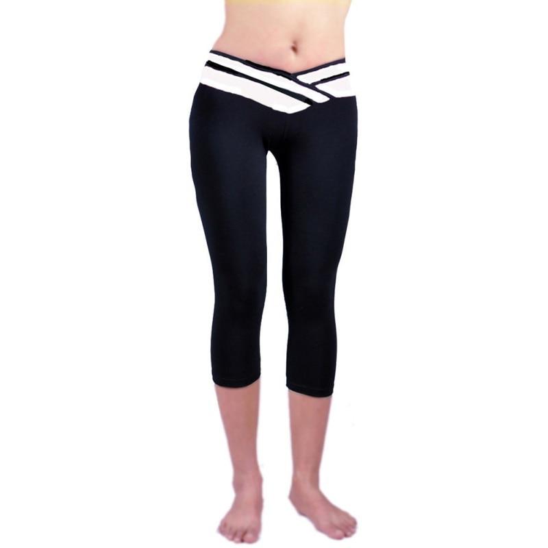 Ladies Women Workout Comfort Waistband Capri   Leggings   Pants