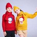 Дети мальчики девочки осень весна свитера о-образным вырезом с длинным рукавом мультфильм вышивка кардиган малыша теплая одежда детей 2-7 Т