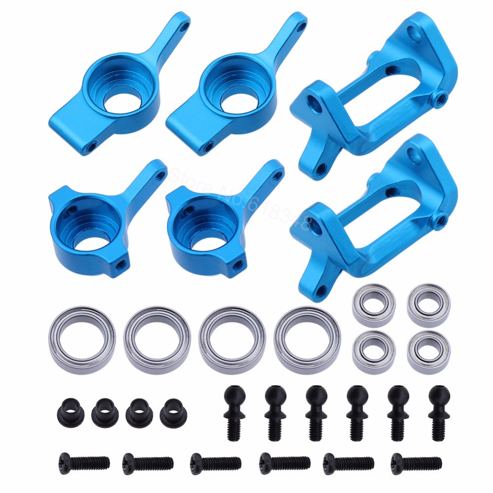 Aluminum Steering Knuckle Hub Base C Carrier Caster Block A959-05 For Wltoys A979 1:18 Electric Monster Truck Upgrade Metal 1 5 1 6 traxxas x maxx steering hub steering knuckle blocks set for rc car 7737 7740 7743 brushless electric monster truck