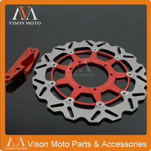 Big discount 320MM Front Wavy Floating Brake Disc Rotor With Caliper Bracket Adapter For CRF250X CRF250R CR250R CRF450R CRF450X CR125