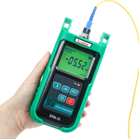 optic fiber power meter KomShine KPM 35 FTTH fiber cable tester w/ Silicone case. Resolution (dB):0.01