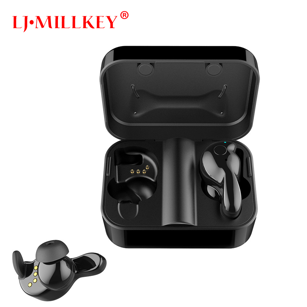 TWS Wireless Earphones Bluetooth TWS Stereo Earbuds Hands Free Calling Earpiece With Built-in Mic&Charging Case For Phone YZ208 mini twins true wireless bluetooth earphones in ear stereo tws v4 1 bluetooth headset hands free with mic charging box for phone