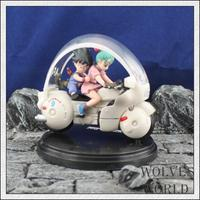 8cm High Quality Dragon Ball Model Collection Childhood Bulma Son Goku Action Figure Goku Bulma Ride