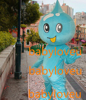 New high quality blue water drop mascot costume fursuit complete costume Character anime carnival costume
