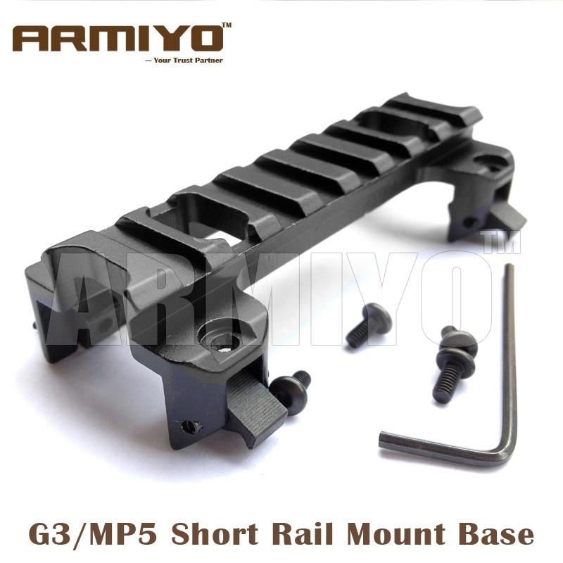 Armiyo G3 MP5 Weaver 90mm Length 20mm Picatinny Rack Rail Mount Base Hunting Shooting Accessories телескопы бинокли armiyo universal camera support mount