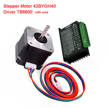 цена на Nema23 Stepper Motor 42BYGH40 57 motor 3A with TB6600 stepper driver NEMA17 23 for CNC engraving machine