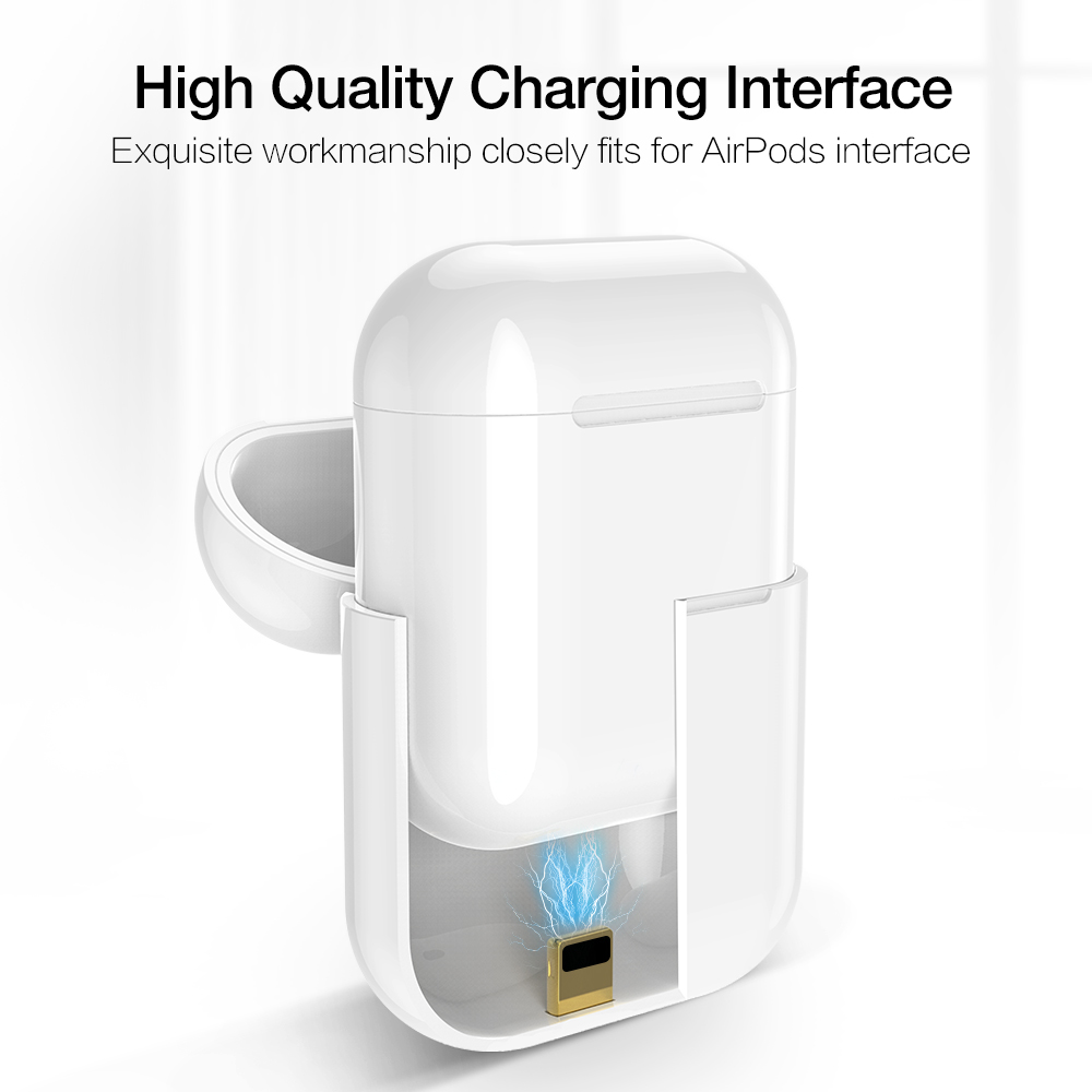 Qi Wireless Charging Receiver Case for Apple AirPods 1 2 Bluetooth Headset Wireless Charger Protective Hard Cover in Mobile Phone Chargers from Cellphones Telecommunications
