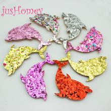 Buy felt cutouts and get free shipping on aliexpress 50pcs glitter sequined dolphin patches felt animal cutouts 55mm for baby hair accessory cake topper publicscrutiny Gallery
