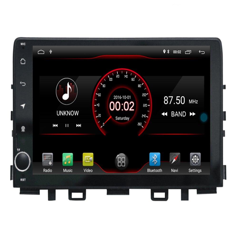 Android 9.1 unité pc multimédia pour KIA RIO 2017 2018 + lecteur DVD de voiture Navigation GPS prise en charge Radio DAB + jeu de voiture Mirro lien TPMS