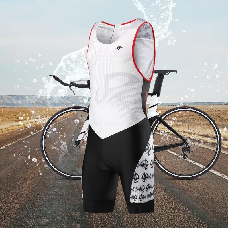 Santic triathlon cycling clothing Sleeveless jumpsuit for men maillot ciclismo fietskleding wielrennen zomer heren set M7C03013 santic black triathlon clothing men