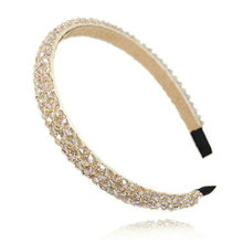 Hot Sale Luxury Crystal Modern Style Rhinestone Headband Hairbands Headwear Hair Accessories For Girl Women Wedding