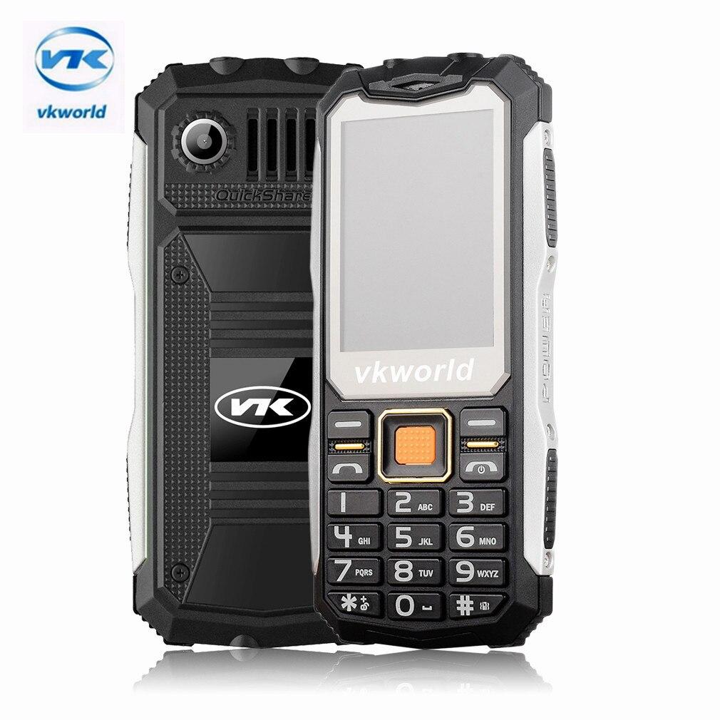 Цена за Оригинал VKworld Камень V3S Мобильный Телефон 2.4 дюймов Dual SIM водонепроницаемый 21 Ключи Bluetooth FM Сотовый Телефон Построен в 2200 году мАч батареи